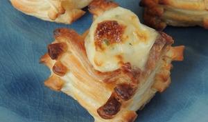 Bouchées feuilletées au chaource & escargot