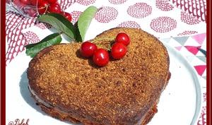 Gâteau cerises et pralin