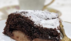 Pudding au Chocolat et aux Poires