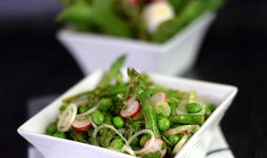 Salade d'asperges vertes et petits pois