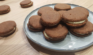 Biscuits chocolat et vanille façon Oréo