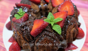 Délice chocolat mascarpone et fraises