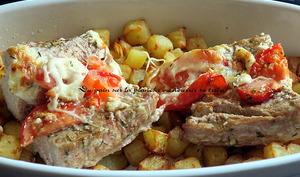 Filets mignons de porc à la mozzarella