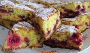 Gâteau facile aux griottes