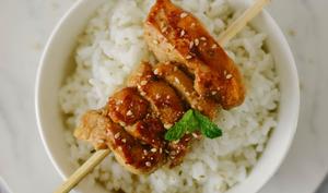 Brochette de poulet teriyaki
