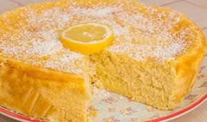Gâteau moelleux au citron et à la noix de coco