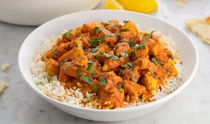 Curry de poulet au fromage blanc 0%