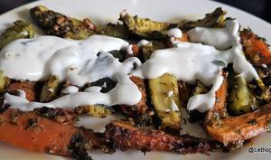 Courgettes et carottes au four à la sauce chermoula