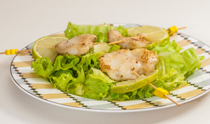 Joues de lotte en salade