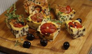 Clafoutis tomates olives