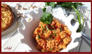 Boulghour aux tomates et pois chiches