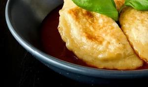 Ravioles feta et poivrons grillés