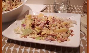 Salade de Coquillettes au Thon et sa mayonnaise sans huile