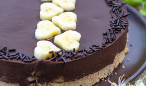 Tarte au chocolat et à la banane