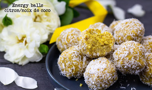 Energy balls au citron et à la noix de coco