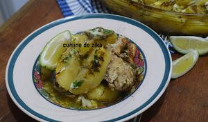 Pommes de terre au four au poulet