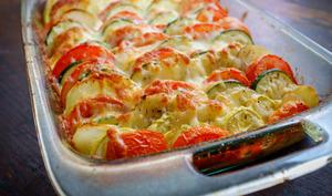 Tian de légumes et mozzarella