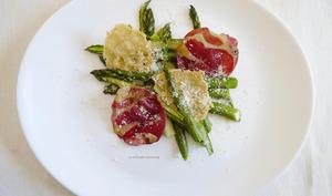 Salade d'asperges, croustillante.
