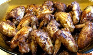 Ailes de poulet confites aux épices