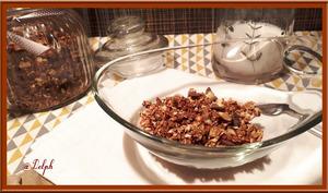 Granola chocolat-amande