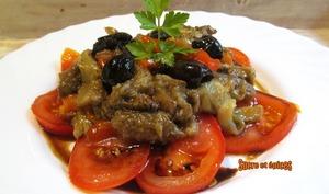 Salade de poivrons et aubergines marinés