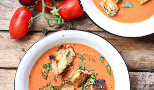 Gazpacho tomates et cerises