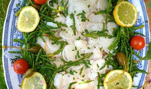 Salade de cabillaud aux salicornes