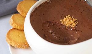 Crèmes mousseuses au chocolat