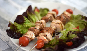 Brochettes de porc au barbecue