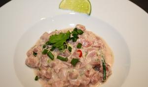 Ceviche de thon rouge au lait de coco