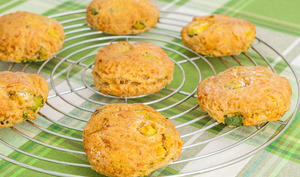 Scones courgettes emmental