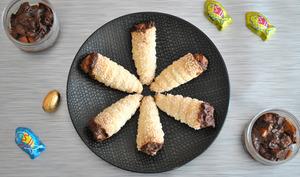 Cornets chocolat poire