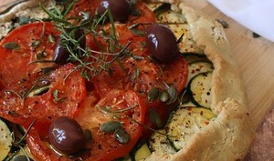 Tarte rustique courgette- tomate