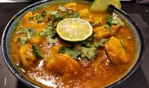 Curry de crevettes aux Ananas