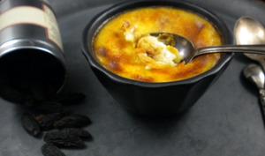 Crème caramel à la vanille et fève tonka