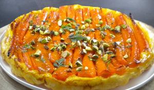 Tarte tatin aux carottes et au caramel d'orange