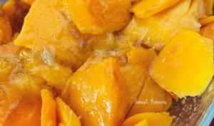 Le crumble mangue, abricot-pays et coco