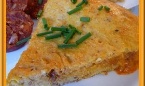 Omelette au Chorizo et pois chiches