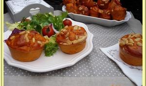 Muffins à la Tomate, Lardons, Comté et Basilic