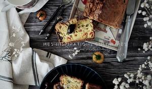 Cake aux olives et aux poivrons
