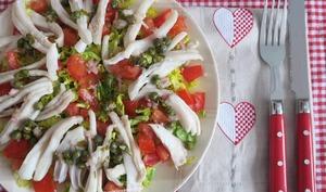 salade de raie à la vinaigrette tiède