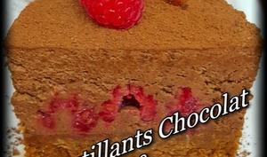 Croustillants chocolat et framboises
