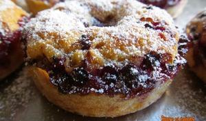 Mini donuts moelleux aux groseilles