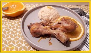 Pilons de poulet à l'orange