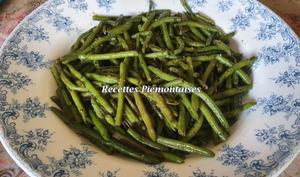 Haricots verts à l'ail et au persil
