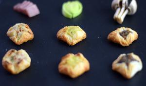 Paniers feuilletés apéritifs aux champignons