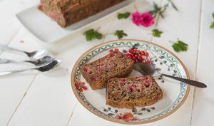 Cake aux groseilles et amandes