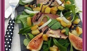Salade gourmande de filets de canard