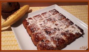 Gâteau à la banane et chocolat
