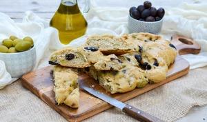 Fougasse aux 2 olives